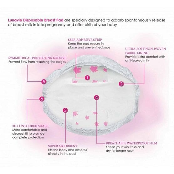 Lunavie Disposable Breast Pads