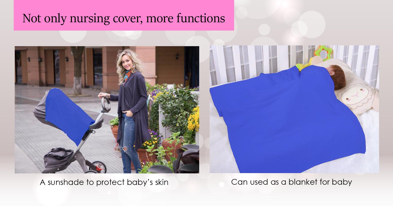 Not only nursing cover, more functions