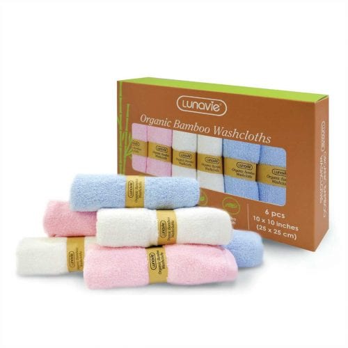 organic bamboo washcloth 6pcs