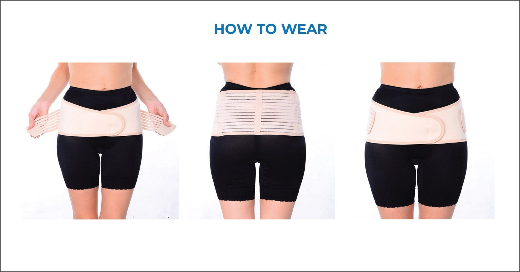 How to wear for maternity belt