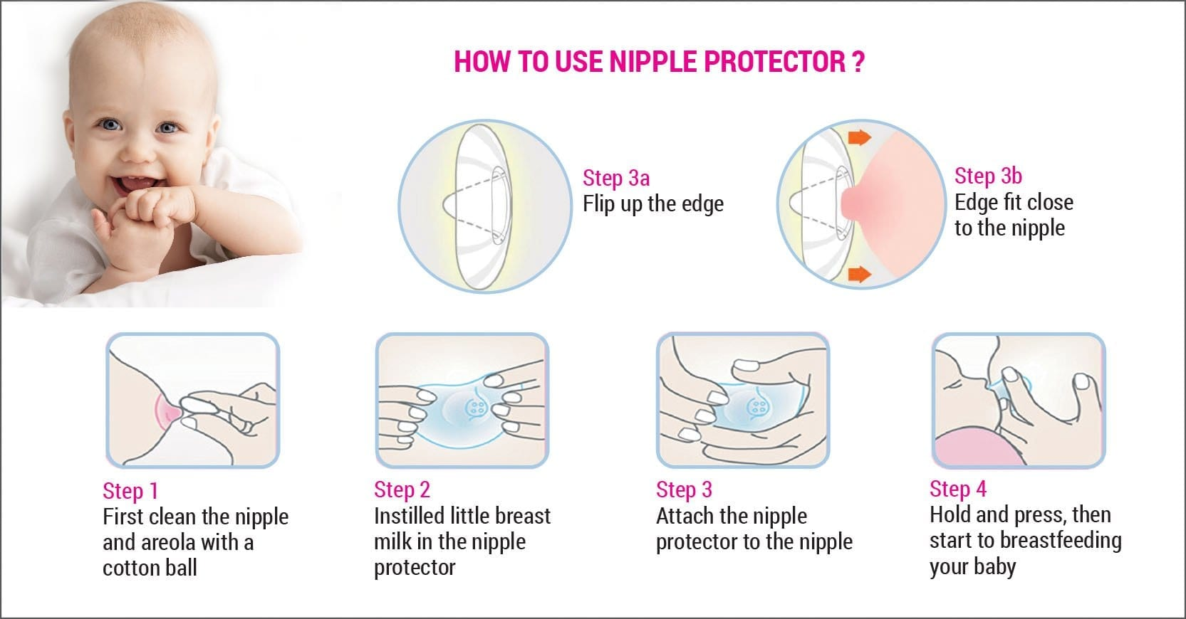 How to use nipple protector?
