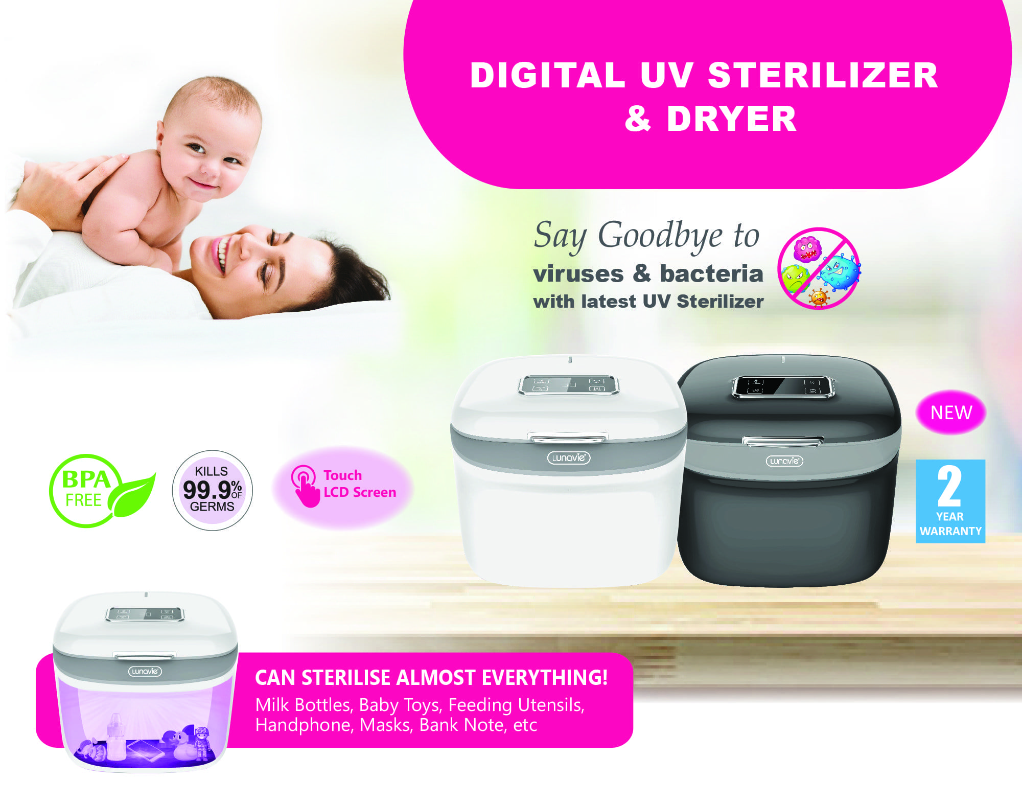 digital uv sterilizer & dryer