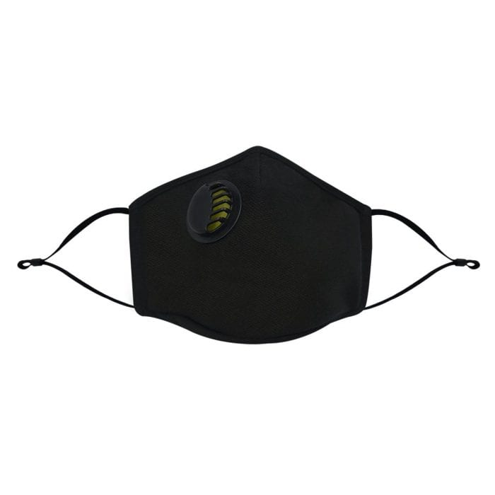 Air Face Mask Front Black