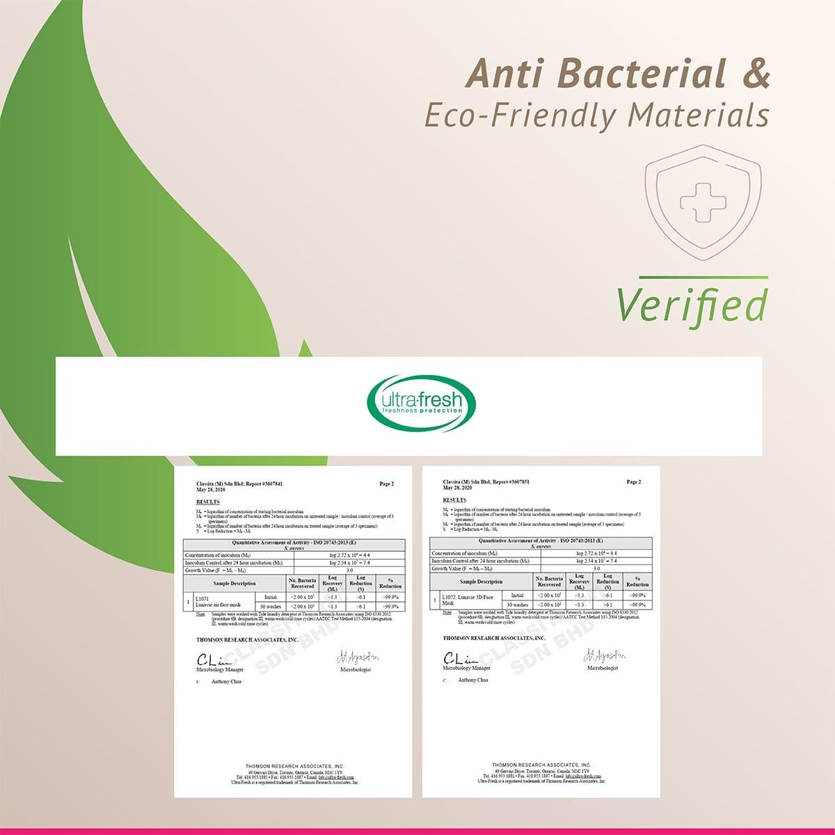 Certificate Facemask Ultra Fresh