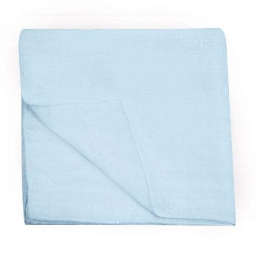 BAMBOO B MUSLIN SQUARE 1PC-BLUE