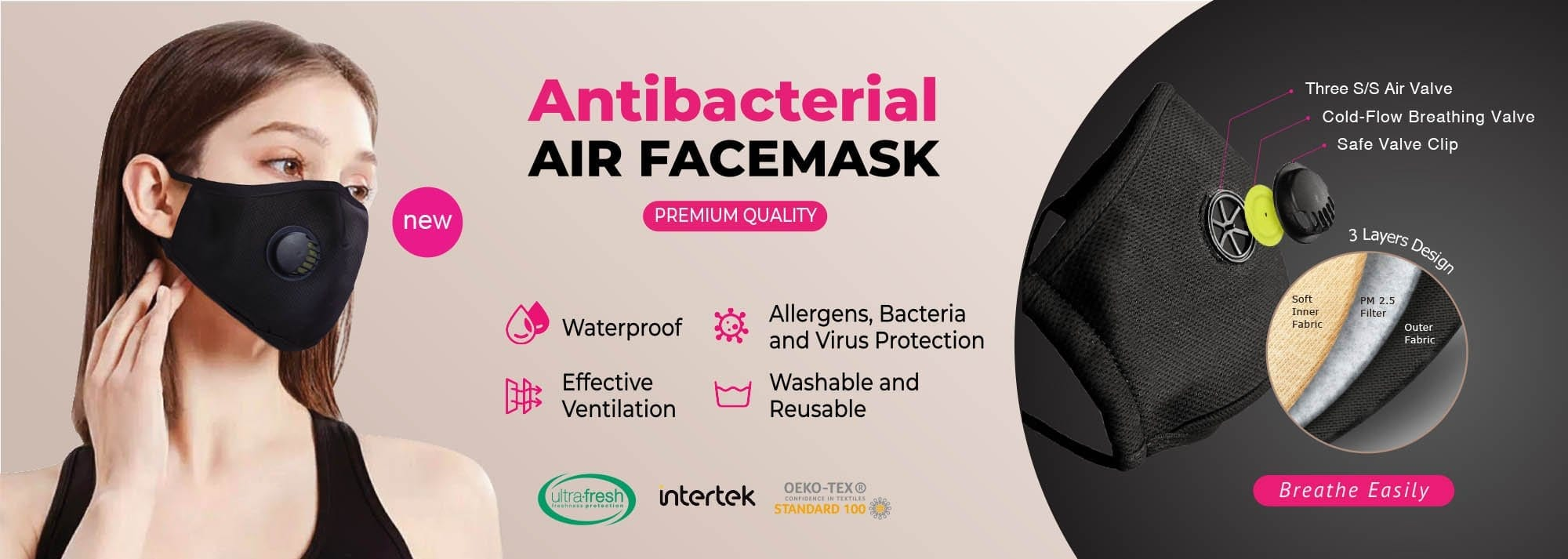 air face mask banner